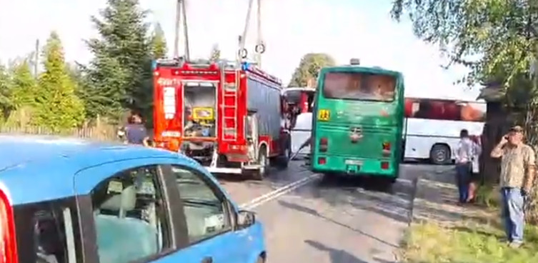 Groźne zderzenie szkolnych autobusów. Ucierpiała czwórka dzieci  - miniaturka