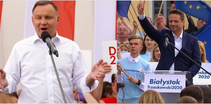Sondaż. Wyborcy Dudy głosowali za Dudą, wyborcy Trzaskowskiego głosowali przeciw Dudzie - zdjęcie