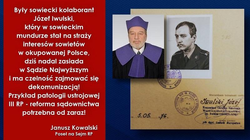 Kasta Basta! ,,Były sowiecki kolaborant'' ma jutro przewodniczyć komisji SN w sprawie SB-eckich emerytur - miniaturka