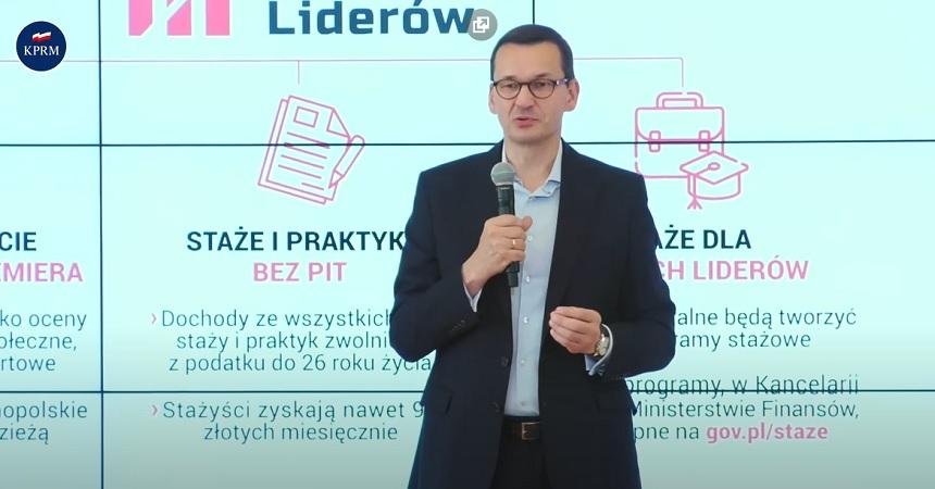Brawo Polska! Premier Morawiecki: Zerowy PIT dla stażystów rządówki - miniaturka