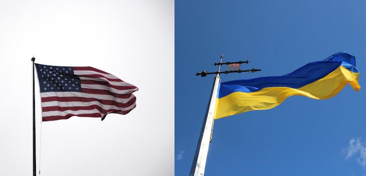 Wspólny lot bombowców USA i ukraińskich myśliwców - miniaturka